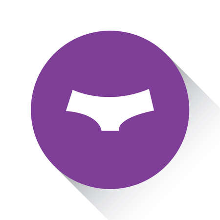 briefs: A Purple Icon Isolated on a White Background - Womens Briefs