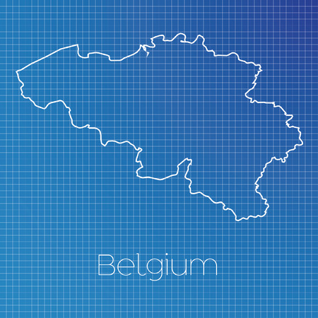 schematic: A Schematic outline of the country of Belgium