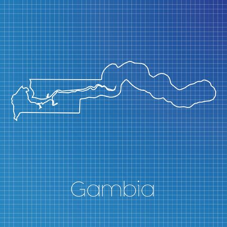 schematic: A Schematic outline of the country of Gambia