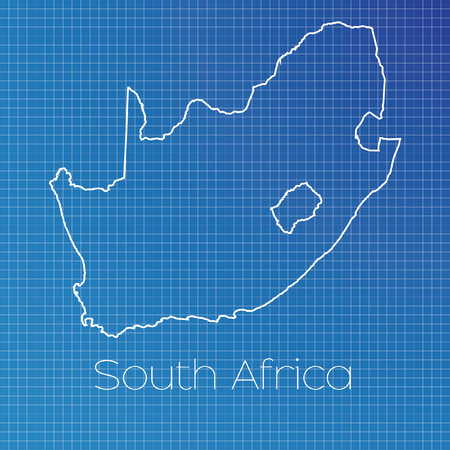 africa outline: A Schematic outline of the country of South Africa