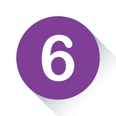 six web website: A Purple Icon Isolated on a White Background - 6
