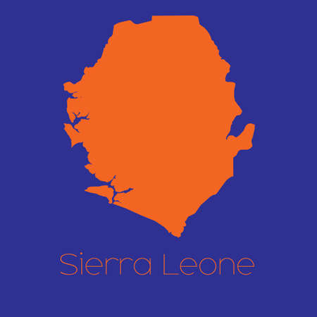 leone: A Map of the country of Sierra Leone Stock Photo