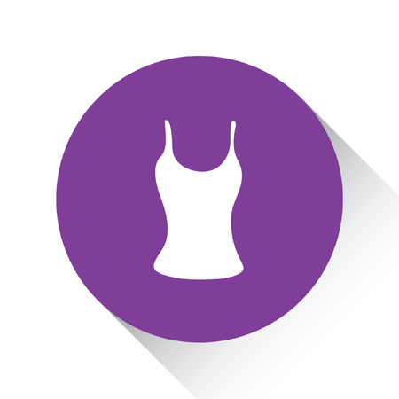 vest in isolated: A Purple Icon Isolated on a White Background - Vest Top