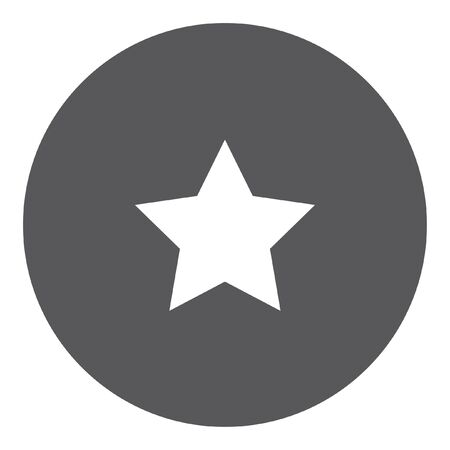 pointed: A White Icon Isolated on a Grey Background - 5 Pointed Star