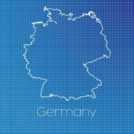 A Schematic outline of the country of Germany Stock Photo