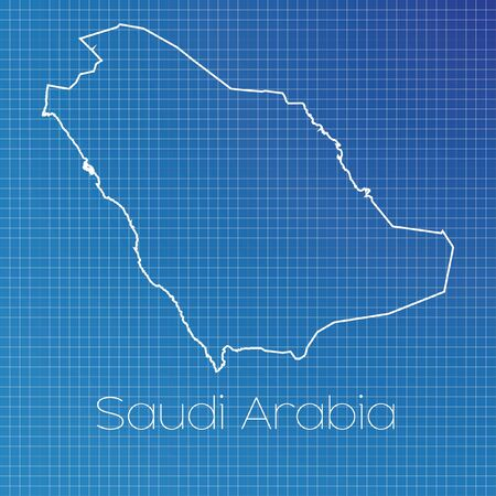 schematic: A Schematic outline of the country of Saudi Arabia