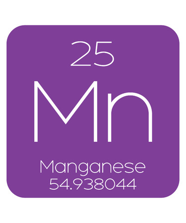 periodic table of the elements: The Periodic Table of the Elements Manganese Stock Photo