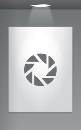 gallery wall: A Grey Icon Isolated on Gallery Wall - Shutter