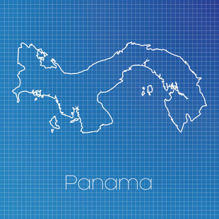 schematic: A Schematic outline of the country of Panama
