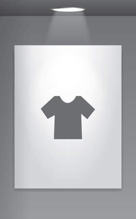 men's: A Grey Icon Isolated on Gallery Wall - Mens TShirt