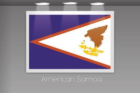 samoa: A Flag Isolated on Gallery Wall of American Samoa