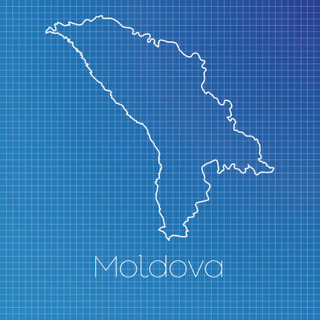 schematic: A Schematic outline of the country of Moldova