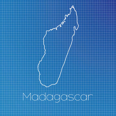 schematic: A Schematic outline of the country of Madagascar
