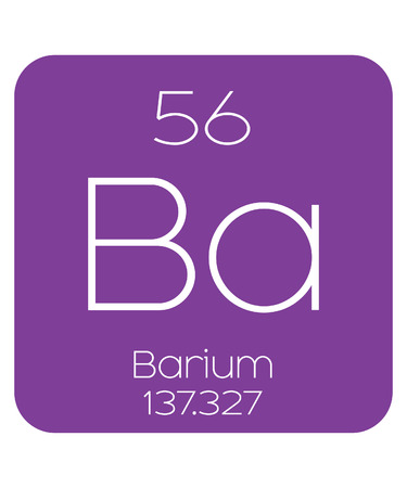 The Periodic Table of the Elements Barium Stock Photo