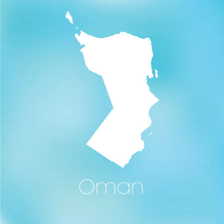 oman: A Map of the country of Oman