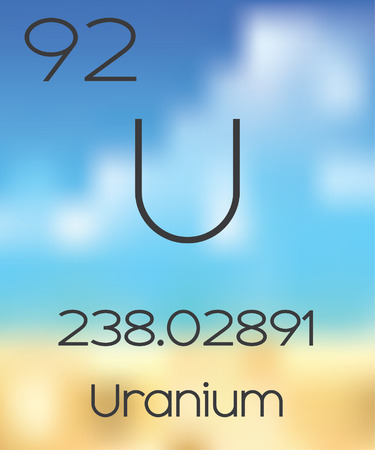 periodic table of the elements: The Periodic Table of the Elements Uranium Stock Photo