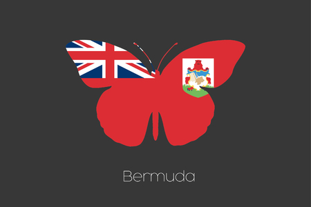 bermuda: A 3D Isometric Flag Illustration of the country of  Bermuda