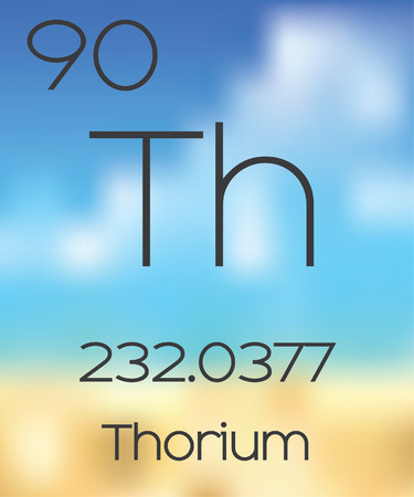 periodic table of the elements: The Periodic Table of the Elements Thorium Stock Photo