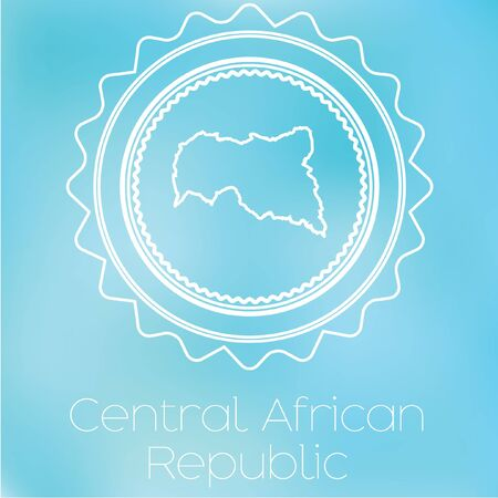 central african republic: A Map of the country of central african republic
