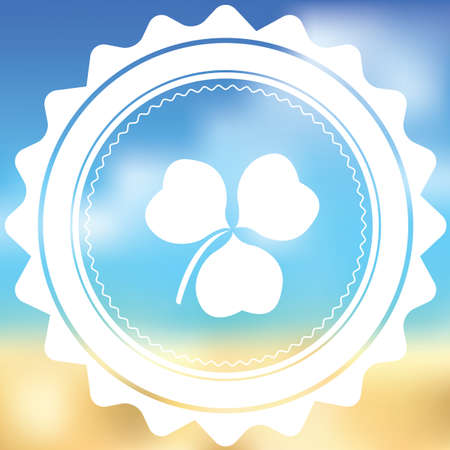 clover buttons: A White Icon Isolated on a Blurred Background - Clover