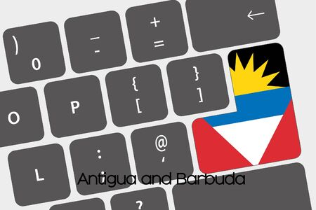 barbuda: A Illustration of a Keyboard with the Enter button being the Flag of  Antigua and Barbuda