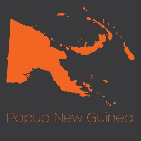 papua: A Map of the country of Papua New Guinea