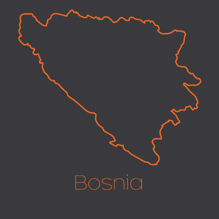 bosnia: A Map of the country of Bosnia