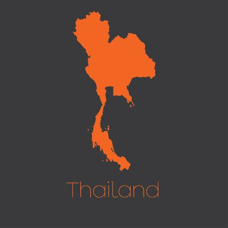 thailand: A Map of the country of Thailand