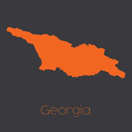 georgia: A Map of the country of Georgia Stock Photo