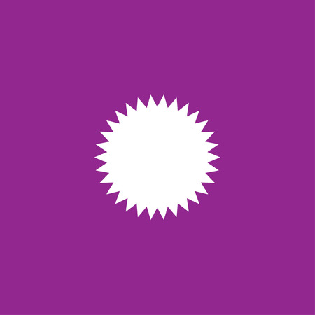spikey: A White Icon Isolated on a Purple Background - Spikey Circle