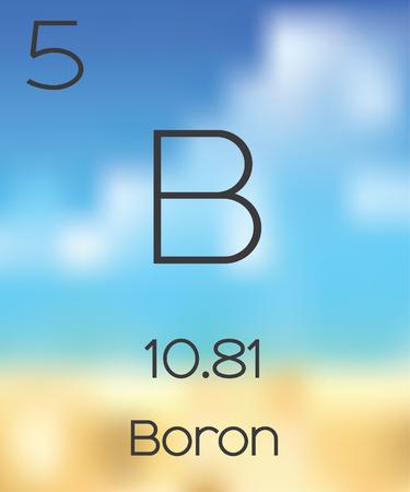 boron: The Periodic Table of the Elements Boron Stock Photo