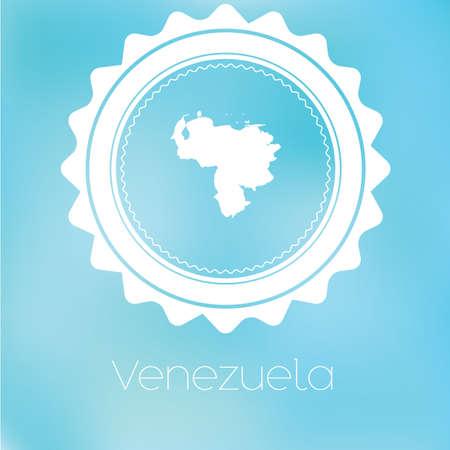 mapa de venezuela: A Map of the country of Venezuela Foto de archivo