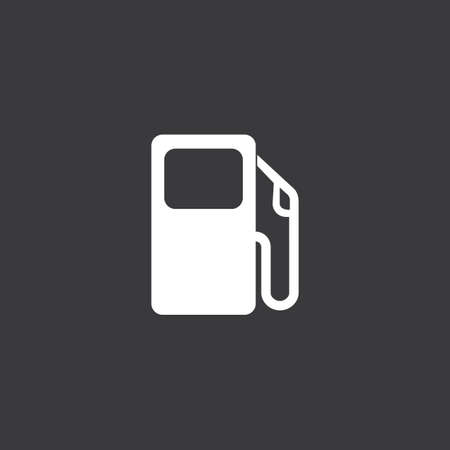 petrol pump: A white Icon Isolated on a Grey Background - Petrol Pump