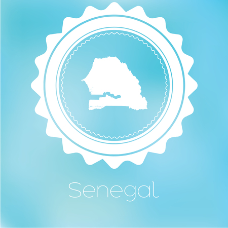 senegal: A Map of the country of Senegal