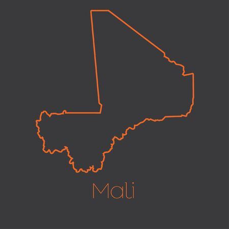 mali: A Map of the country of Mali Stock Photo