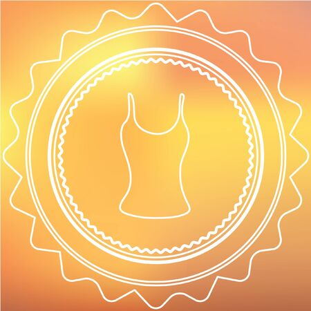 vest in isolated: A White Retro Icon Isolated on a Red and Yellow Background -  Vest Top