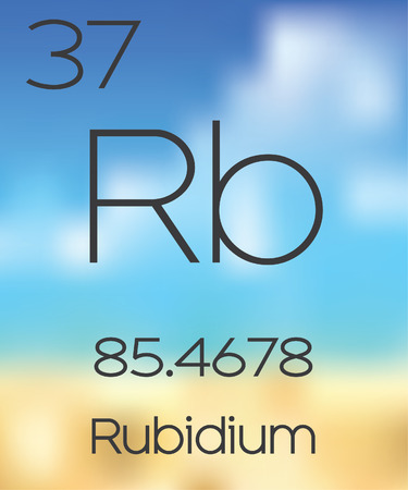 periodic table of the elements: The Periodic Table of the Elements Rubidium Stock Photo