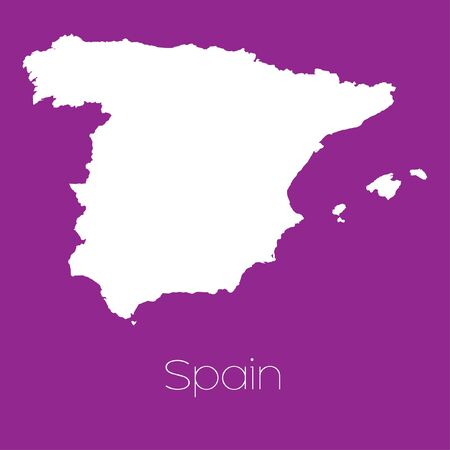 spain: A Map of the country of Spain