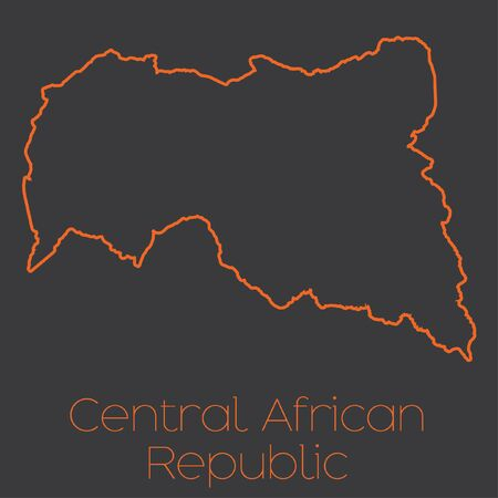 central african republic: A Map of the country of Central African Republic Stock Photo