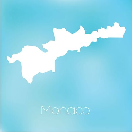 monaco: A Map of the country of Monaco Stock Photo