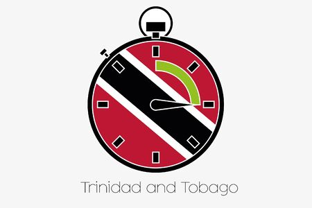 trinidad and tobago: A Stopwatch with the flag of Trinidad and Tobago