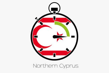 northern: A Stopwatch with the flag of Northern Cyprus