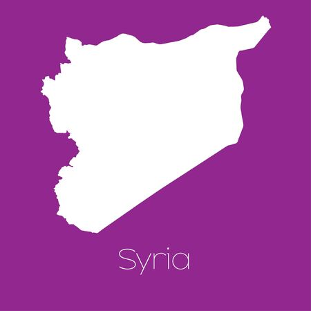 syria: A Map of the country of Syria
