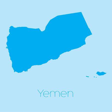 yemen: A Map of the country of Yemen