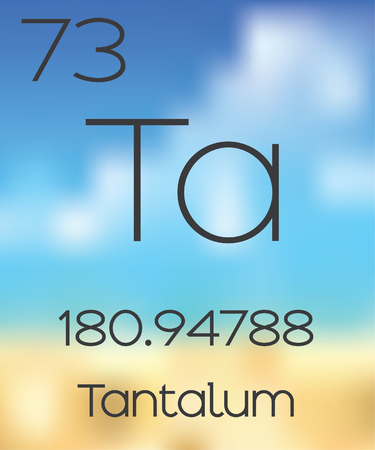 The Periodic Table Of The Elements Tantalum Stock Photo Picture And