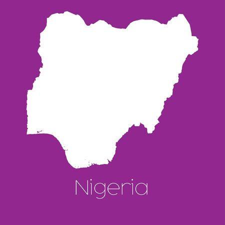 nigeria: A Map of the country of Nigeria