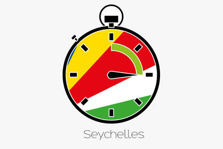 seychelles: A Stopwatch with the flag of Seychelles