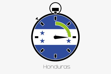 honduras: A Stopwatch with the flag of Honduras