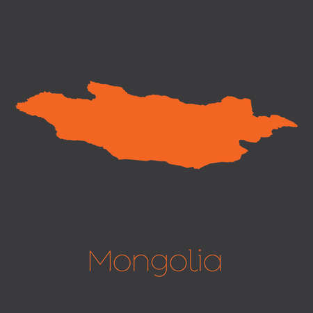 mongolia: A Map of the country of Mongolia Stock Photo