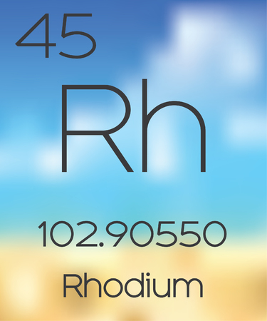 periodic table of the elements: The Periodic Table of the Elements Rhodium
